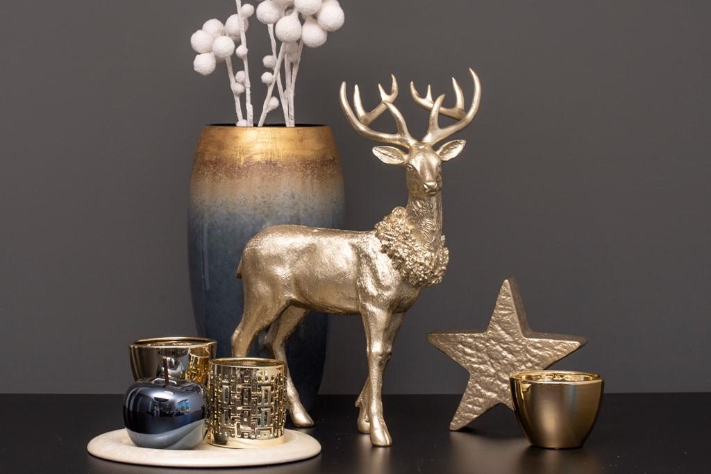 Opulente Deko Ideen zu Weihnachten mit Hirschen