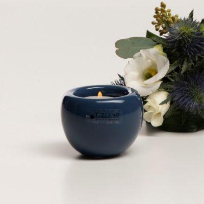 Teelicht Bowla blau