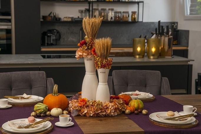 Tischdeko Ideen: Herbstdeko für das Erntedankfest