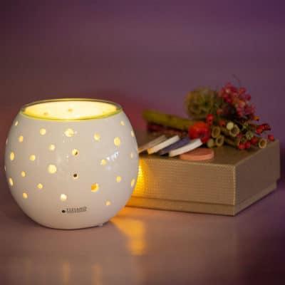 Raumduft Duftlampe Padova weiß-creme