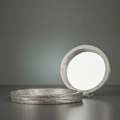 Spiegel Illusion silber