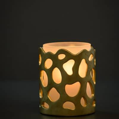 Windlicht Windsor champagner gold