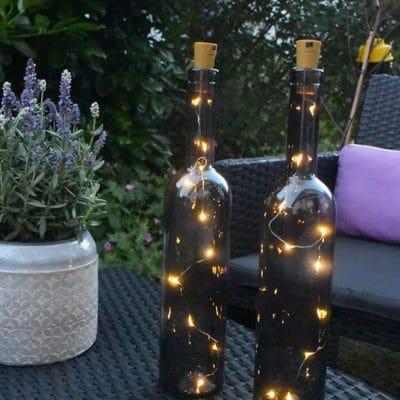 Flasche Flaskan grau inkl LED
