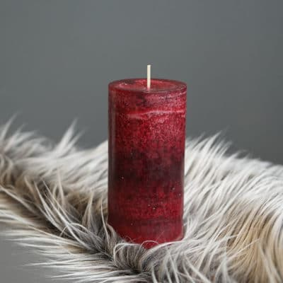 Stumpen Kerze altrot hoch