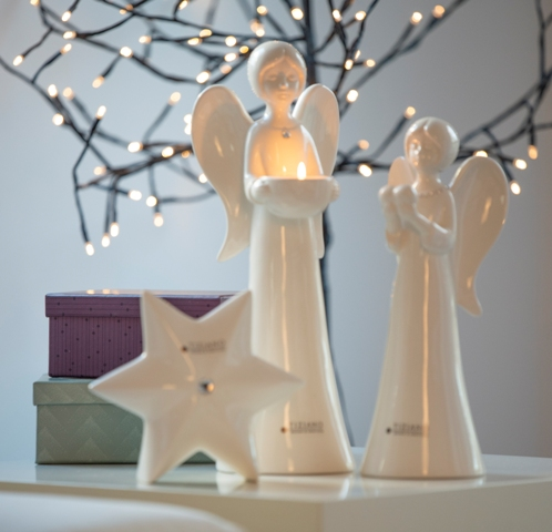 Engel Deko mit Kerzen oder Herzen