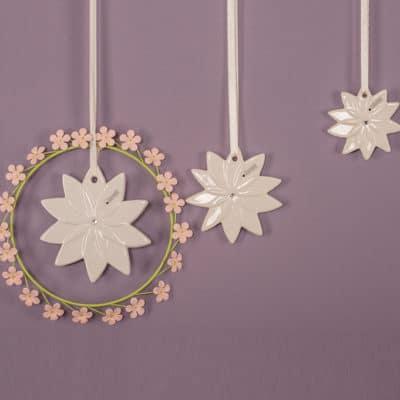 Dekohänger Floralia Cristal creme