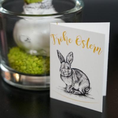 Geschenkanhänger Frohe Ostern Hase