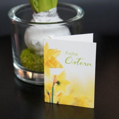 Geschenkanhänger Frohe Ostern Narzisse