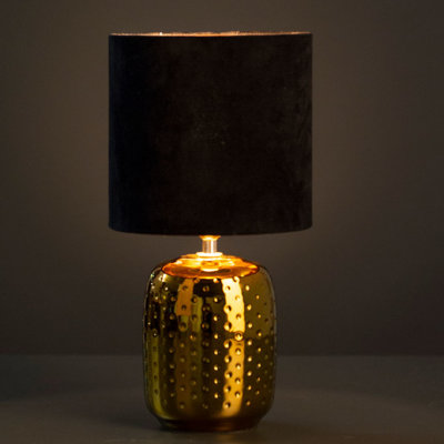 Lampe Aileen oval 37 gold/samt