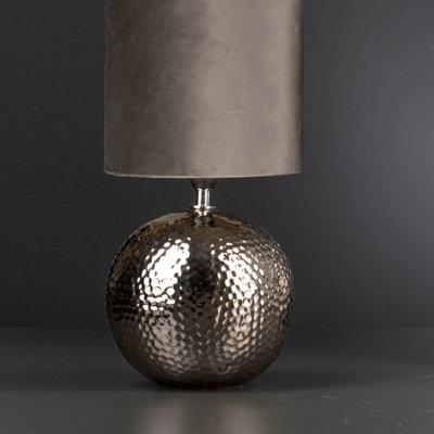Lampe Aileen rund 35 silber/samt
