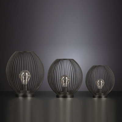 Lampe Glitter LED schwarz