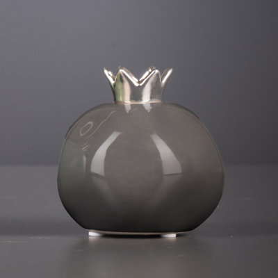 Deko Pomegranate grau/silber