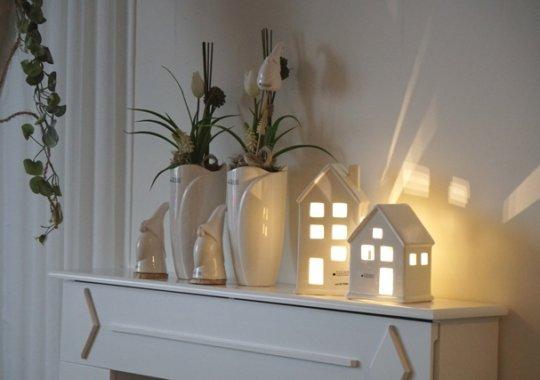 Deko Kaminkonsole mit LED Beleuchtung