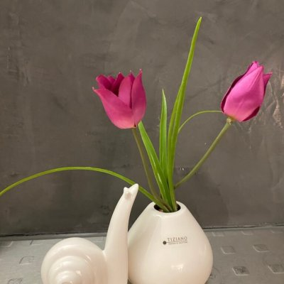 Dekoset Dekofigur Arion und Vitara mit Tulpen