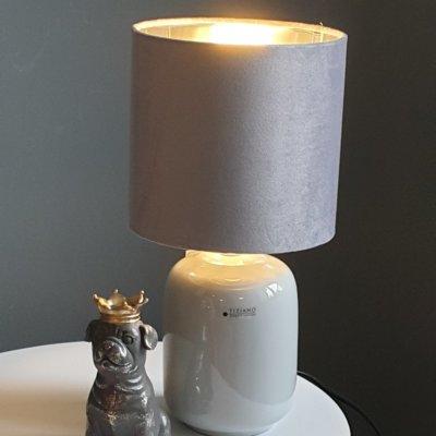 Lampe Catalina grau oval