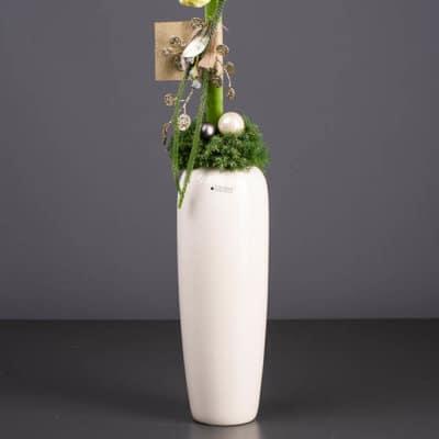 Vase Profera weiß-creme