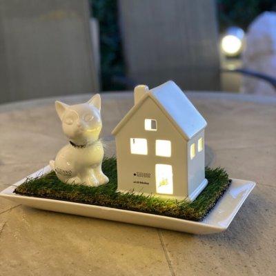 Dekoset Dekofigur Katze Sadira Haus Portofino LED
