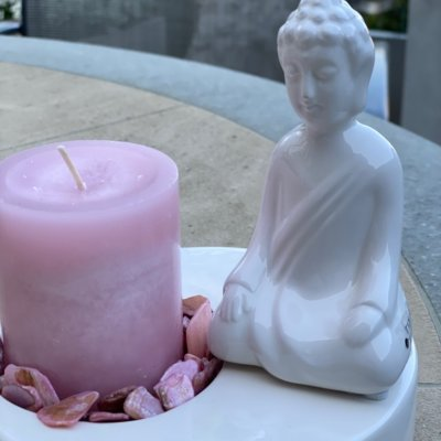 Dekoset Shiva mit Zena und Kerze