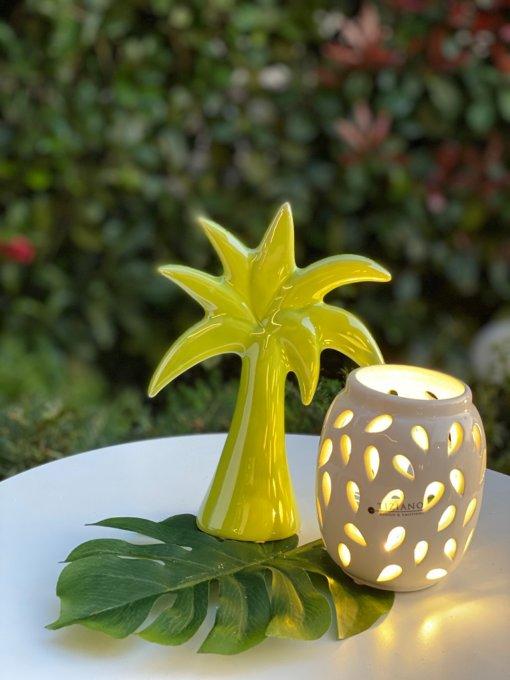 Inhalt Geschenkbox Palme und Teelicht Alvara