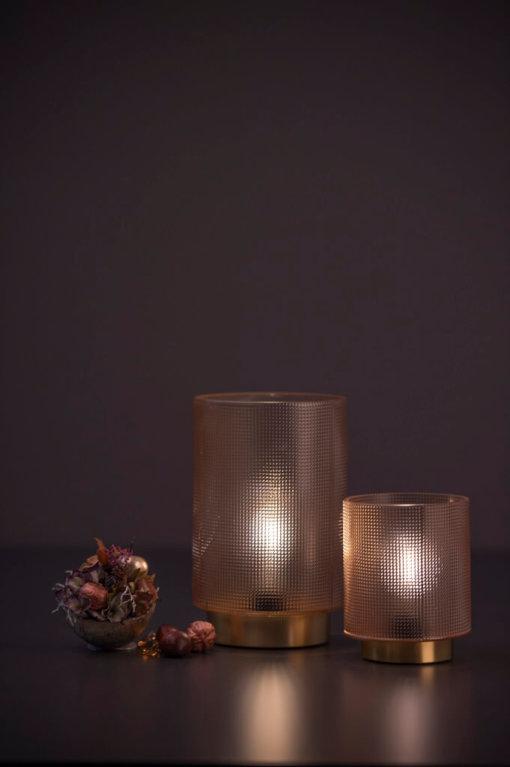 LED Leuchte Glas Lumida india zwei Groesse