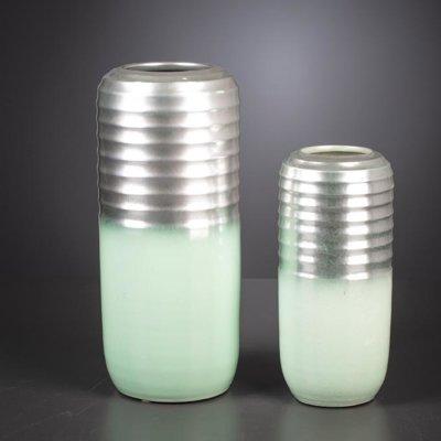 Vase Esmerald silber/mint