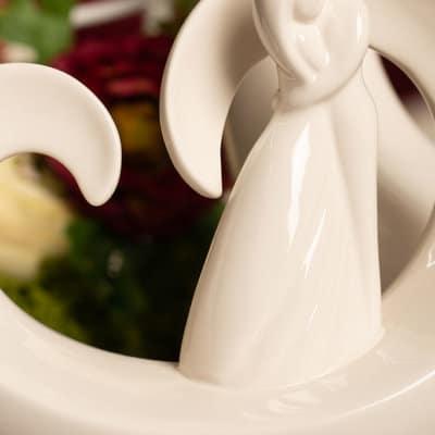 Dekofigur Paar Vincenza weiß-creme