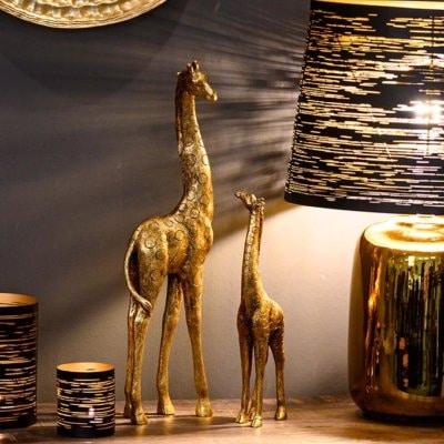 Lampe Memphis gold/schwarz