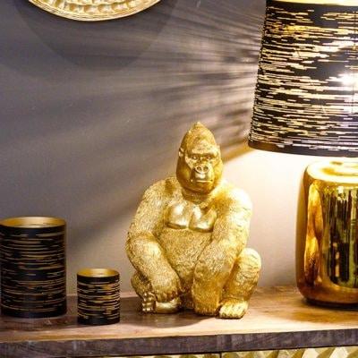Dekofigur Affe Gorilla Avalon gold