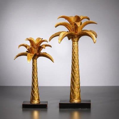 Dekofigur Palme Hawaii gold