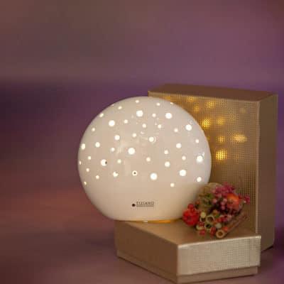 Dekolicht Mendini LED oval weiß creme