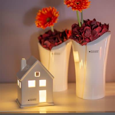 Deko Haus Lichthaus Portofino LED weiß creme