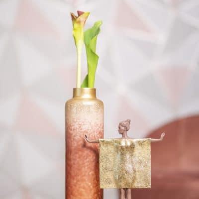 Vase Majesty rose - gold