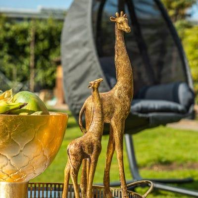 Dekofigur Giraffe Aurata gold