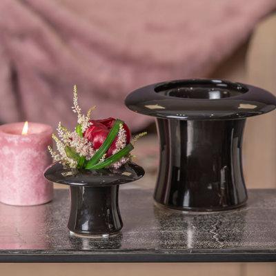 Blumentopf Zylinder Cilindro schwarz
