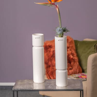 Vase Galla Version B mit Trockenblumen