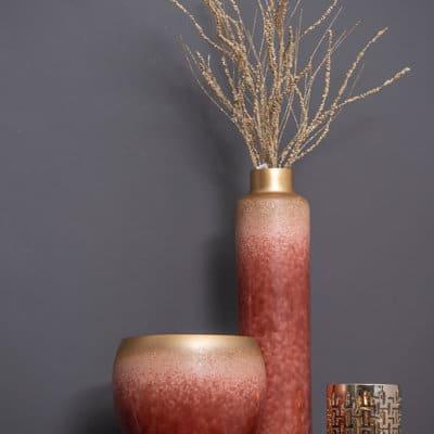 Blumentopf Majesty rose - gold