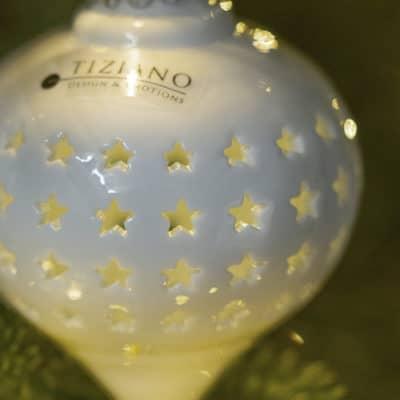 Dekohänger Morella LED 11 rund Stern weiß creme