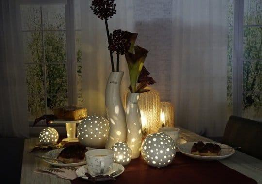 Tischdeko Ideen herbstliche Kaffeetafel