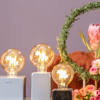 LED Glühbirne braun (auch passend für Lampe Cubo)