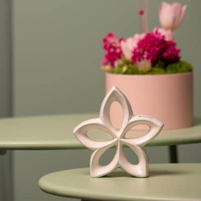 Deko Blume Lorina creme-weiß