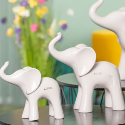 Deko Elefant Ramon weiß-creme