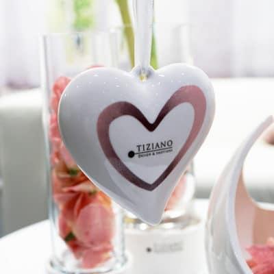 Hänger Amorosa creme-weiß / rosa