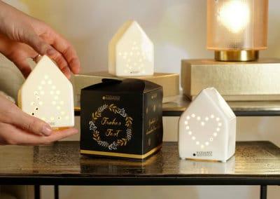 Würfelbox mit Keramik