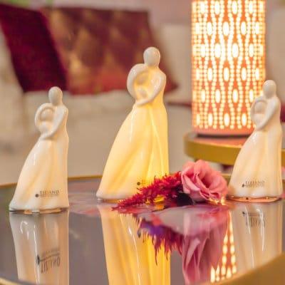 Dekofigur Paar Vincenza LED Porzellan