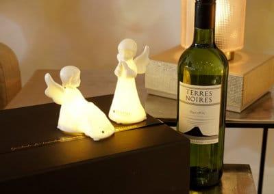 Weingeschenke mit Figuren