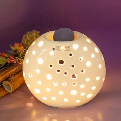 Duftlampe Caldine 13cm creme - weiß
