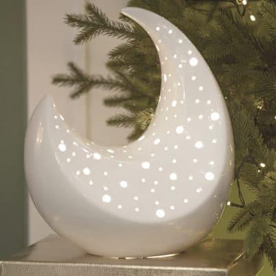 Lampe Adria 31,5cm creme - weiß