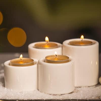 Vorverkauf: Adventsteelicht Avienda creme - weiß