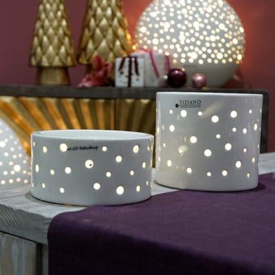 Base Lugo rund LED weiß-creme