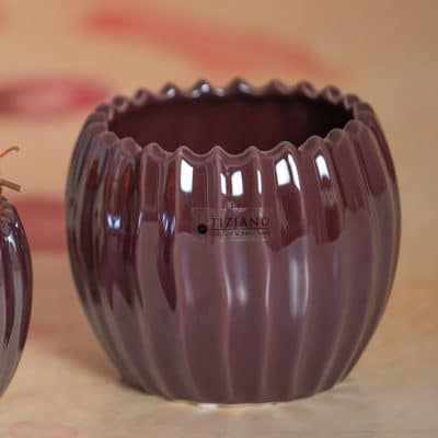 Blumentopf Cavita red plum